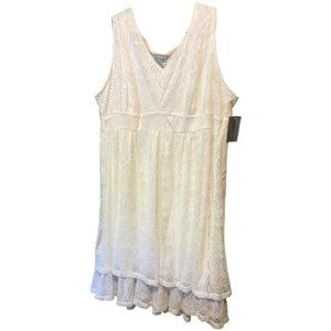 Catherines White Lace Dress Plus Size 3X NWT